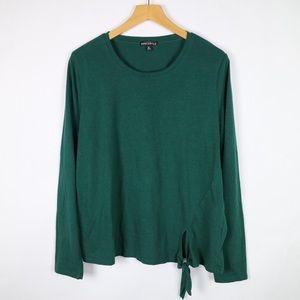 J. Crew mercantile evergreen long sleeve t-shirt